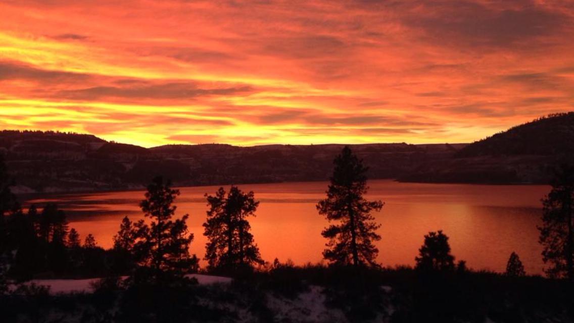 Sunset at Lake Roosevelt